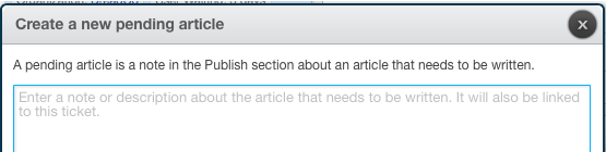 Create new pending article